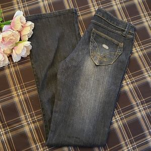 SOUTH POLE BOOT CUT SANDED DISTRESSED JEANS 7